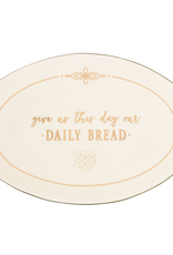 "KITCHEN & ACCESSORIES CELTIC ""GIVE US THIS DAY…"" BREAD PLATE"