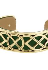 BRACELETS & BANGLES SOLVAR GOLD TONE WEAVE KNOT CUFF BANGLE