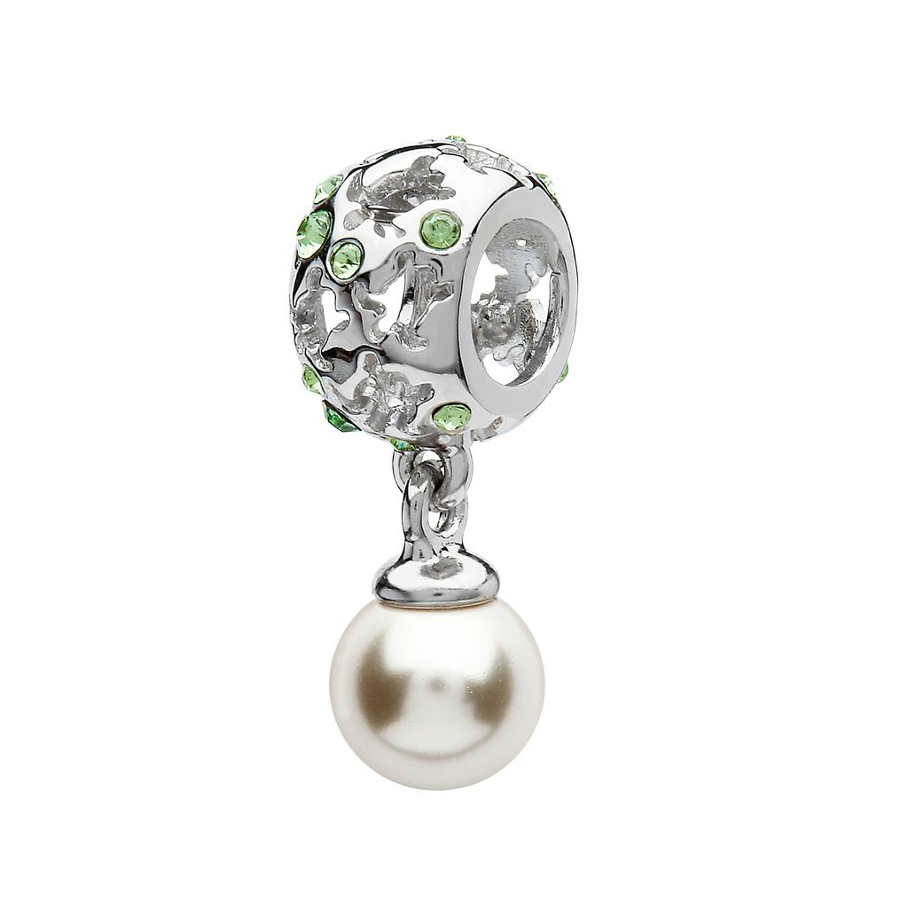 BEADS OCEANS TURTLE & PEARL BEAD with SWAROVSKI CRYSTALS