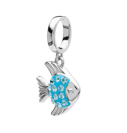 BEADS OCEAN AQUA FISH BEAD with SWAROVSKI CRYSTALS