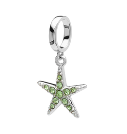 BEADS OCEANS PERIDOT STARFISH BEAD with SWAROVSKI CRYSTALS