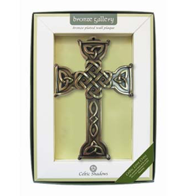 PLAQUES & GIFTS CELTIC BRONZE GALLERY WALL PLAQUE - CELTIC LOVE CROSS