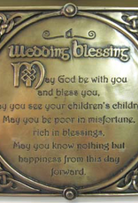 PLAQUES & GIFTS CELTIC BRONZE GALLERY WALL PLAQUE - WEDDING BLESSING