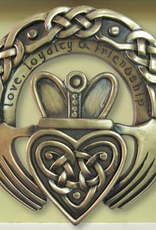 PLAQUES & GIFTS CELTIC BRONZE GALLERY WALL PLAQUE - CLADDAGH