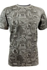 SHIRTS GUINNESS PREMIUM GREY VINTAGE LABLE TEE