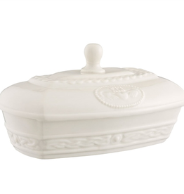 KITCHEN & ACCESSORIES BELLEEK CLADDAGH BUTTER DISH