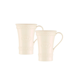 KITCHEN & ACCESSORIES SET OF 2 BELLEEK CLADDAGH LATTE MUGS
