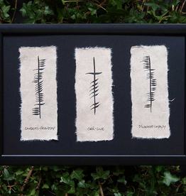 PLAQUES, SIGNS & POSTERS OGHAM WISHES FRAMED ART - Friendship - Love - Loyalty