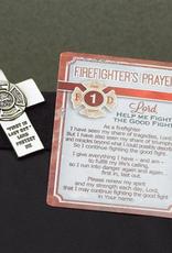 MISC NOVELTY FIRE FIGHTER VISOR CLIP & PRAYER CARD