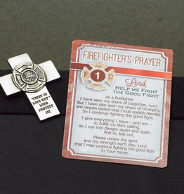 MISC NOVELTY FIRE FIGHTER VISOR CLIP & PRAYER CARD