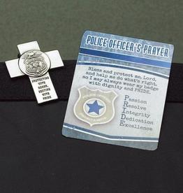 MISC NOVELTY POLICE OFFICER VISOR CLIP & PRAYER