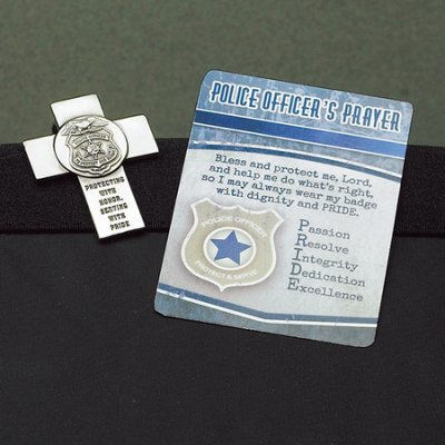 MISC NOVELTY POLICE OFFICER VISOR CLIP & PRAYER