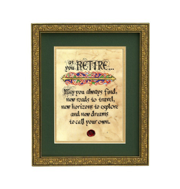 "PLAQUES & GIFTS ""RETIREMENT BLESSING"" MANUSCRIPT 8x10 PLAQUE"