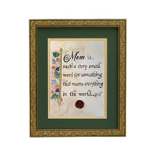 "PLAQUES & GIFTS ""MOM MEANS EVERYTHING"" MANUSCRIPT 8X10 PLAQUE"