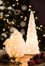 HOLIDAY BELLEEK LIVING CHRISTMAS TREE LUMINAIRE