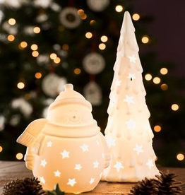 HOLIDAY BELLEEK LIVING CHRISTMAS TREE LUMINAIRE
