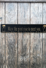 "PLAQUES, SIGNS & POSTERS ""MAY THE PINT RISE…"" CARVED WOOD PUB SIGN"