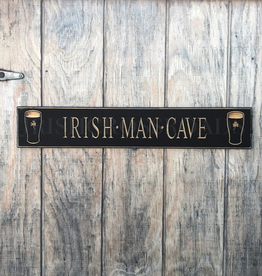 """PLAQUES, SIGNS & POSTERS """"IRISH MAN CAVE"""" CARVED WOOD PUB SIGN"""
