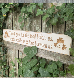 "PLAQUES, SIGNS & POSTERS ""THANK YOU FOR…"" CARVED WOOD SIGN"