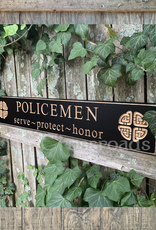 """PLAQUES, SIGNS & POSTERS """"POLICEMEN"""" CARVED WOOD SIGN"""