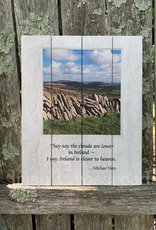 """PLAQUES & GIFTS """"CLOUDS ARE LOWER IN IRELAND"""" PALLET ART"""