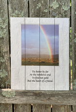 "PLAQUES & GIFTS ""RAINBOWS END"" PALLET ART"
