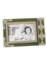 FRAMES GREEN PHOTO FRAME with CELTIC KNOTS