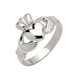 RINGS FADO STERLING CLADDAGH RING - MAIDS
