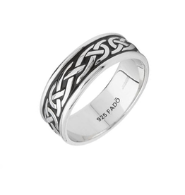 "RINGS FADO STERLING ""AN RI"" HEAVY BAND RING"