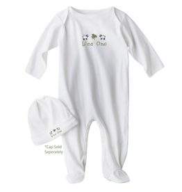 "BABY CLOTHES ""WEE ONE"" IRISH FOOTIE"