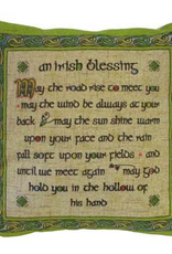 TAPESTRIES, THROWS, ETC. CELTIC WEAVE 18x18 PILLOW - Irish Blessing