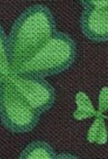 COLLARS & LEASHES BLACK & GREEN SHAMROCK LEASH - 6FT