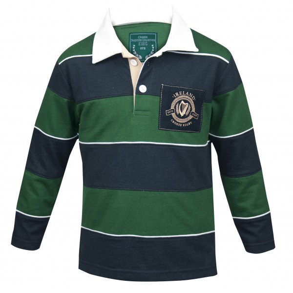 KIDS CLOTHES CROKER KIDS STRIPED RUGBY JERSEY