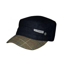 ACCESSORIES GUINNESS BLACK TWEED PEAK CADET CAP