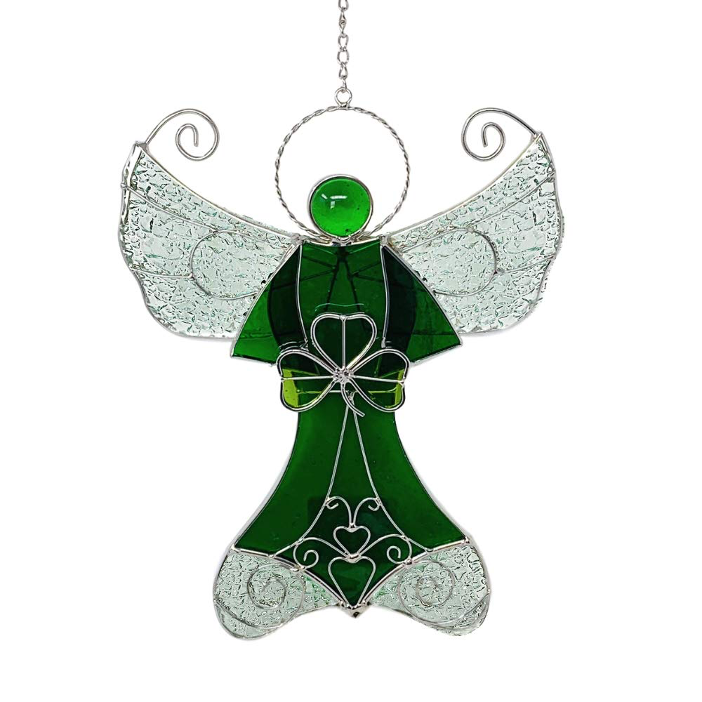 STAINED GLASS SHAMROCK STAINED GLASS ANGEL