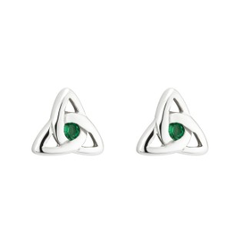 EARRINGS ACARA SILVER TRINITY STUD EARRINGS with STONES