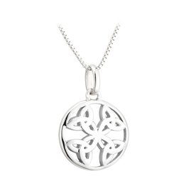PENDANTS & NECKLACES ACARA SILVER CIRCLE TRINITY PENDANT