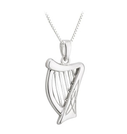 PENDANTS & NECKLACES ACARA SILVER HARP PENDANT