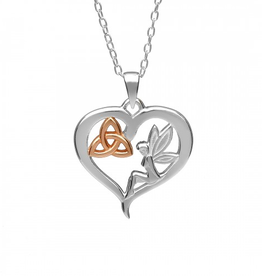 PENDANTS & NECKLACES AMETHYST DUBLIN - FAIRY TRINITY HEART PENDANT