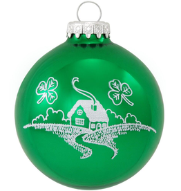 ORNAMENTS OLD IRISH BLESSING GLASS ORNAMENT