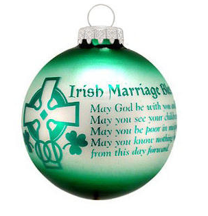 ORNAMENTS IRISH MARRIAGE BLESSING ORNAMENT