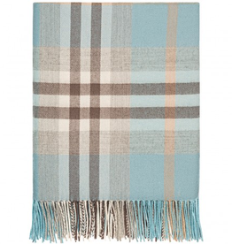 TAPESTRIES, THROWS, ETC. LOCHCARRON LAMBSWOOL LAP BLANKET- ISLAY DUCKEGG CHECK