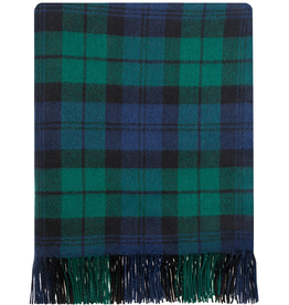 TAPESTRIES, THROWS, ETC. LOCHCARRON LAMBSWOOL LAP BLANKET - BLACKWATCH