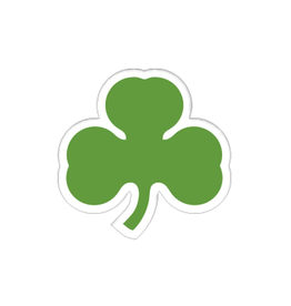 "NOVELTY SHAMROCK 3"" DECAL"