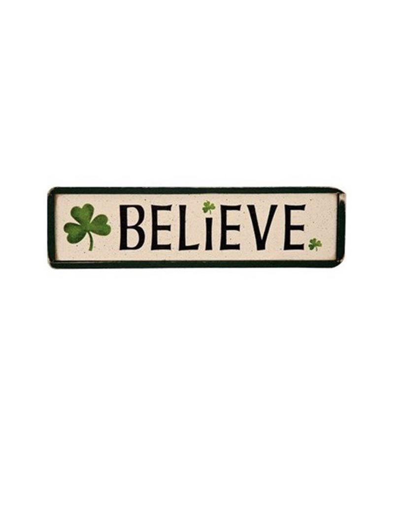 "PLAQUES, SIGNS & POSTERS ""BELIEVE"" IRISH WOOD SIGN"