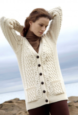 SWEATERS LADIES BUTTON BOYFRIEND IRISH CARDIGAN