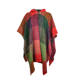 CAPES & RUANAS BRANIGAN WEAVERS SARA CAPE - Buffalo Multi Mulberry