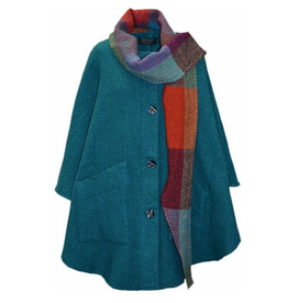 CAPES & RUANAS BRANIGAN WEAVERS TINA CAPE - KIllybegs Teal Jade