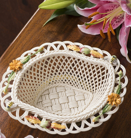 DECOR BELLEEK AUTUMN FLOWERS BASKET