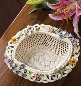 DECOR BELLEEK SPRING FLOWERS BASKET